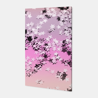 Miniatur Unicorn Girls Glitter Stars #8 #shiny #decor #art Canvas, Live Heroes