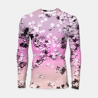 Thumbnail image of Unicorn Girls Glitter Stars #8 #shiny #decor #art Longsleeve rashguard, Live Heroes