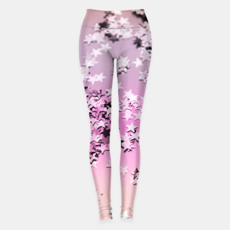 Miniatur Unicorn Girls Glitter Stars #8 #shiny #decor #art Leggings, Live Heroes