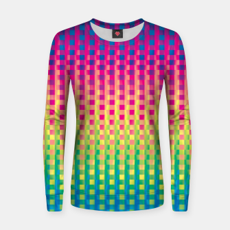 Thumbnail image of Rainbow 19 Woman cotton sweater, Live Heroes