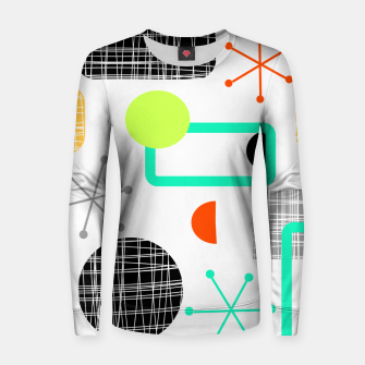 Thumbnail image of Geometric Funky Colorful Bold Design Woman cotton sweater, Live Heroes