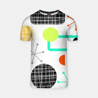 Thumbnail image of Geometric Funky Colorful Bold Design T-shirt, Live Heroes