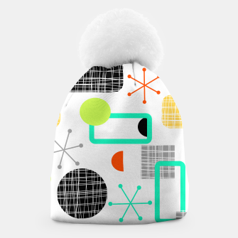 Thumbnail image of Geometric Funky Colorful Bold Design Beanie, Live Heroes