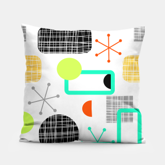 Miniatur Geometric Funky Colorful Bold Design Pillow, Live Heroes