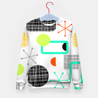 Thumbnail image of Geometric Funky Colorful Bold Design Kid's sweater, Live Heroes