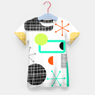 Thumbnail image of Geometric Funky Colorful Bold Design Kid's t-shirt, Live Heroes
