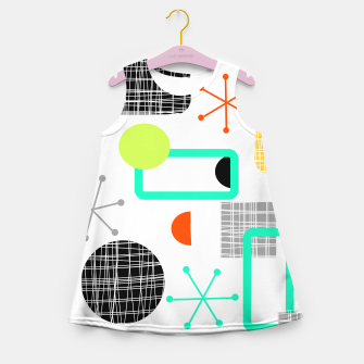 Thumbnail image of Geometric Funky Colorful Bold Design Girl's summer dress, Live Heroes