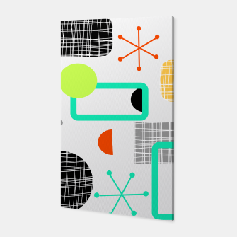 Thumbnail image of Geometric Funky Colorful Bold Design Canvas, Live Heroes