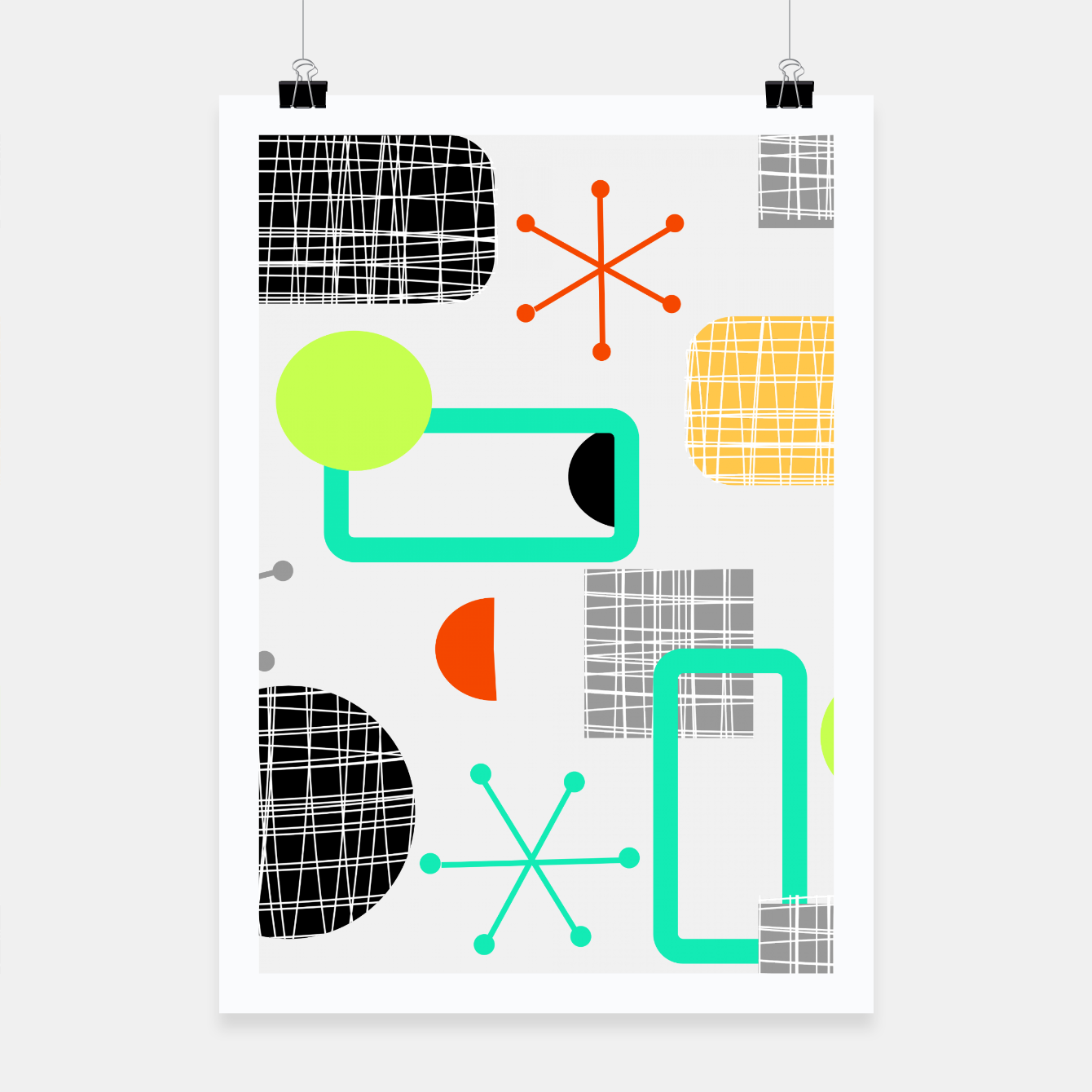 Image of Geometric Funky Colorful Bold Design Poster - Live Heroes