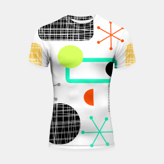 Thumbnail image of Geometric Funky Colorful Bold Design Shortsleeve rashguard, Live Heroes