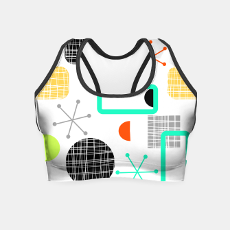 Thumbnail image of Geometric Funky Colorful Bold Design Crop Top, Live Heroes