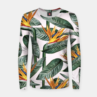 Thumbnail image of Bird Of Paradise Pattern  Woman cotton sweater, Live Heroes