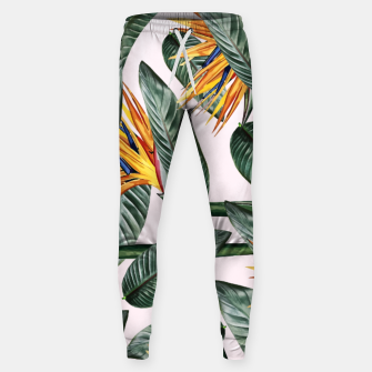 Thumbnail image of Bird Of Paradise Pattern  Cotton sweatpants, Live Heroes