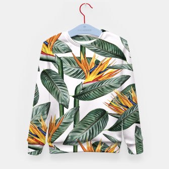 Thumbnail image of Bird Of Paradise Pattern  Kid's sweater, Live Heroes