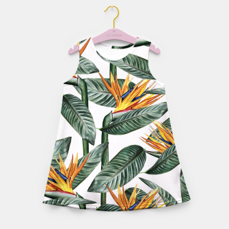 Thumbnail image of Bird Of Paradise Pattern  Girl's summer dress, Live Heroes