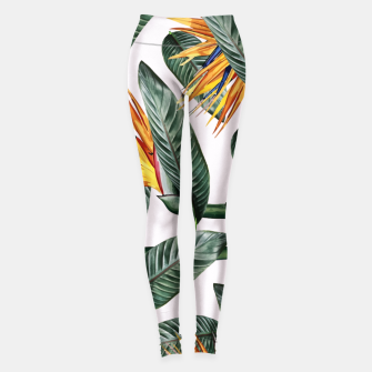 Thumbnail image of Bird Of Paradise Pattern  Leggings, Live Heroes