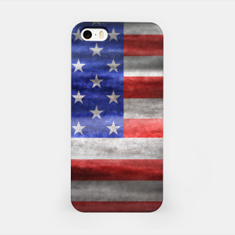 Thumbnail image of American Flag Grunge Wave iPhone Case, Live Heroes
