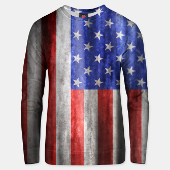 Thumbnail image of American Flag Grunge Wave Cotton sweater, Live Heroes