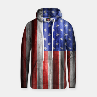 Thumbnail image of American Flag Grunge Wave Cotton hoodie, Live Heroes