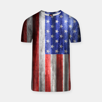 Thumbnail image of American Flag Grunge Wave T-shirt, Live Heroes