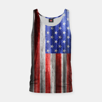 Thumbnail image of American Flag Grunge Wave Tank Top, Live Heroes