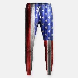 Thumbnail image of American Flag Grunge Wave Cotton sweatpants, Live Heroes
