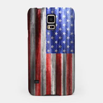 Thumbnail image of American Flag Grunge Wave Samsung Case, Live Heroes