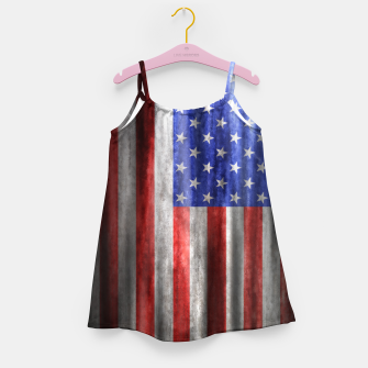 Thumbnail image of American Flag Grunge Wave Girl's dress, Live Heroes