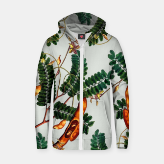 Thumbnail image of Under the Tamarind Tree Cotton zip up hoodie, Live Heroes