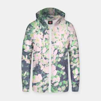 Thumbnail image of Foliage Pattern V7 Cotton zip up hoodie, Live Heroes