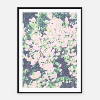 Thumbnail image of Foliage Pattern V7 Framed poster, Live Heroes