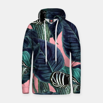 Thumbnail image of Tropical Flower Pattern Cotton hoodie, Live Heroes