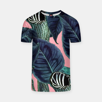 Thumbnail image of Tropical Flower Pattern T-shirt, Live Heroes