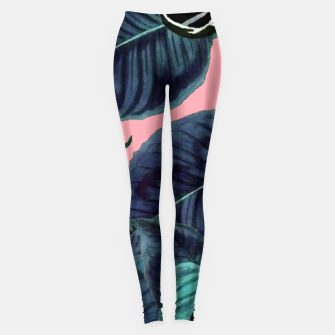 Thumbnail image of Tropical Flower Pattern Leggings, Live Heroes