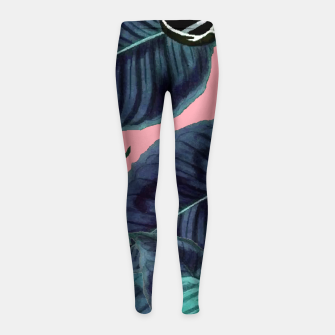 Thumbnail image of Tropical Flower Pattern Girl's leggings, Live Heroes