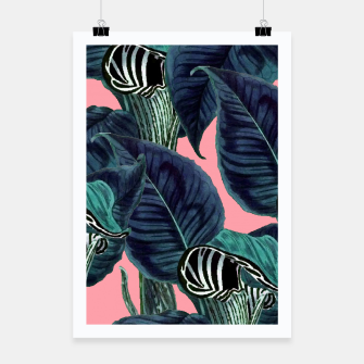 Thumbnail image of Tropical Flower Pattern Poster, Live Heroes