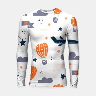 Thumbnail image of air transport Longsleeve rashguard , Live Heroes