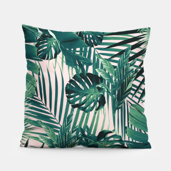 Miniatur Tropical Jungle Leaves Siesta #2 #tropical #decor #art Kissen, Live Heroes