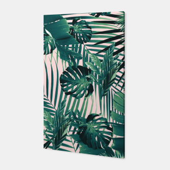 Thumbnail image of Tropical Jungle Leaves Siesta #2 #tropical #decor #art Canvas, Live Heroes