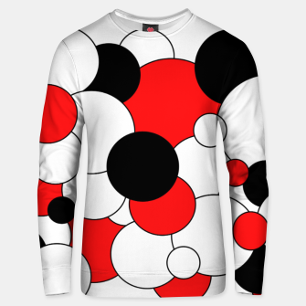 Thumbnail image of Abstract pattern - red, black and white. Cotton sweater, Live Heroes