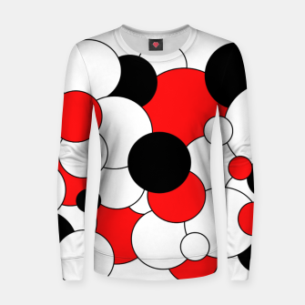 Thumbnail image of Abstract pattern - red, black and white. Woman cotton sweater, Live Heroes