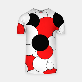 Thumbnail image of Abstract pattern - red, black and white. T-shirt, Live Heroes