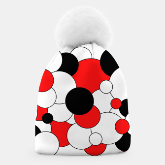 Miniatur Abstract pattern - red, black and white. Beanie, Live Heroes