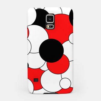 Thumbnail image of Abstract pattern - red, black and white. Samsung Case, Live Heroes