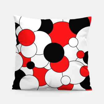 Miniatur Abstract pattern - red, black and white. Pillow, Live Heroes