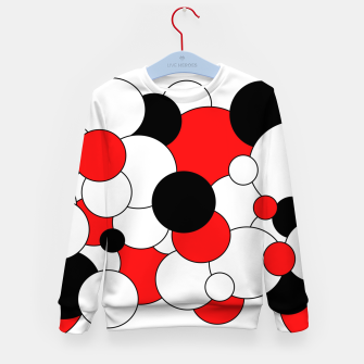 Miniatur Abstract pattern - red, black and white. Kid's sweater, Live Heroes