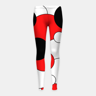 Thumbnail image of Abstract pattern - red, black and white. Girl's leggings, Live Heroes