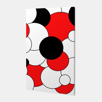 Thumbnail image of Abstract pattern - red, black and white. Canvas, Live Heroes