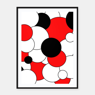 Thumbnail image of Abstract pattern - red, black and white. Framed poster, Live Heroes
