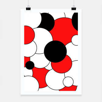 Thumbnail image of Abstract pattern - red, black and white. Poster, Live Heroes